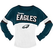 NFL Team Apparel Girls' Philadelphia Eagles Sequins Long Sleeve Shirt