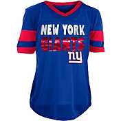 NFL Team Apparel Girls' New York Giants Mesh Royal Jersey Top