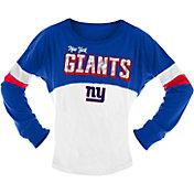 NFL Team Apparel Girls' New York Giants Sequins Long Sleeve Shirt