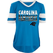 NFL Team Apparel Girls' Carolina Panthers Mesh Blue Jersey Top