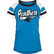 NFL Team Apparel Girls' Carolina Panthers Foil T-Shirt
