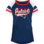 NFL Team Apparel Girls' New England Patriots Foil T-Shirt