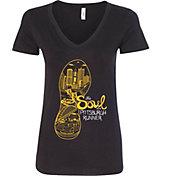 Women's 2017 Pittsburgh Marathon Soul V-Neck T-Shirt