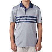 adidas Boys' 3-Stripes Chest Print Golf Polo