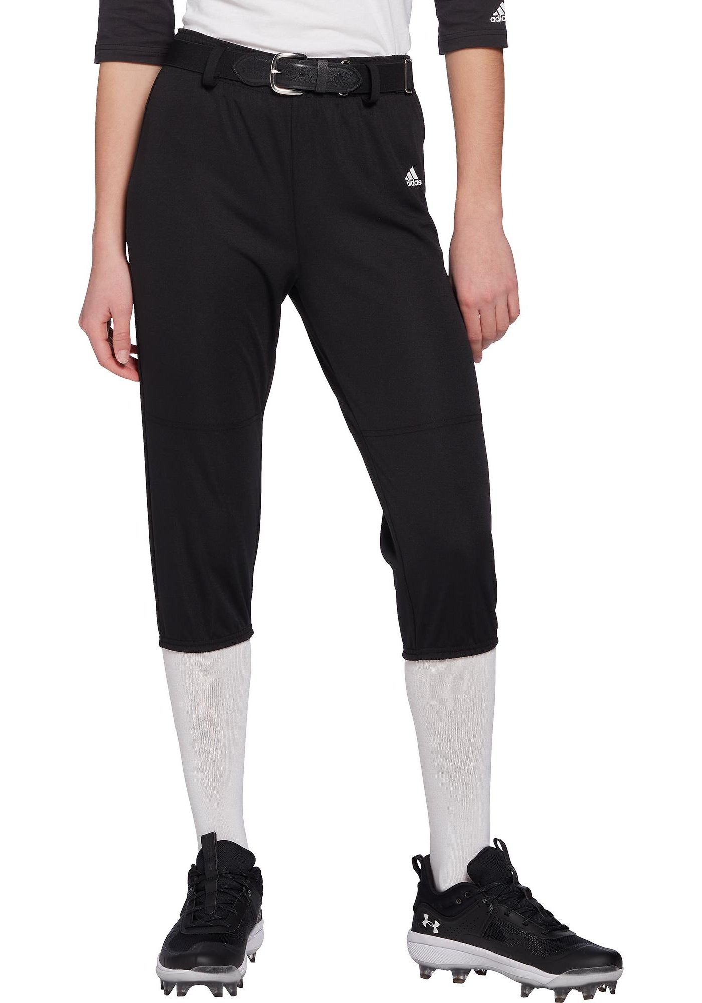adidas Boys' Triple Stripe Pull Up Baseball Pants