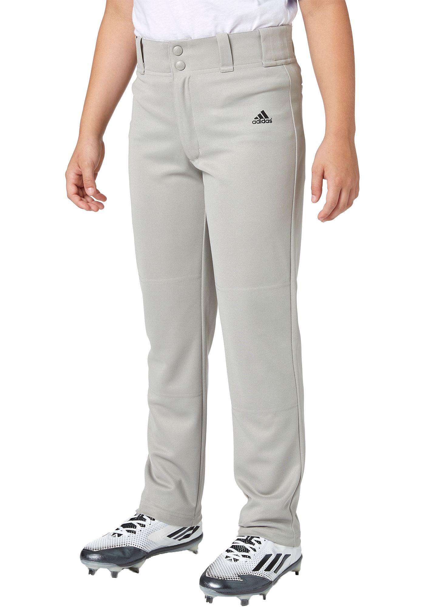 adidas Boys' Triple Stripe Open Bottom Baseball Pants
