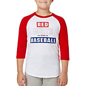 adidas Boys' Red White & Baseball ¾ Sleeve Baseball Shirt