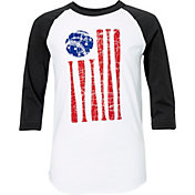 adidas Boys' American Flag ¾ Sleeve Shirt