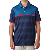 adidas Boys' Camo Stripe Golf Polo