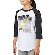 adidas Girls' My Field ¾ Sleeve Softball Shirt