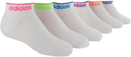 adidas Girls' Superlite Low Cut Socks 6 Pack