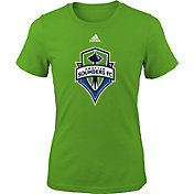 adidas Youth Girls' Seattle Sounders Big Logo Green T-Shirt