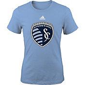 adidas Youth Girls' Sporting KC Big Logo Light Blue T-Shirt