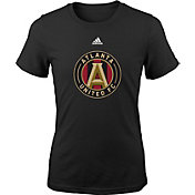 adidas Youth Girls' Atlanta United Big Logo Black T-Shirt