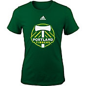 adidas Youth Girls' Portland Timbers Big Logo Green T-Shirt