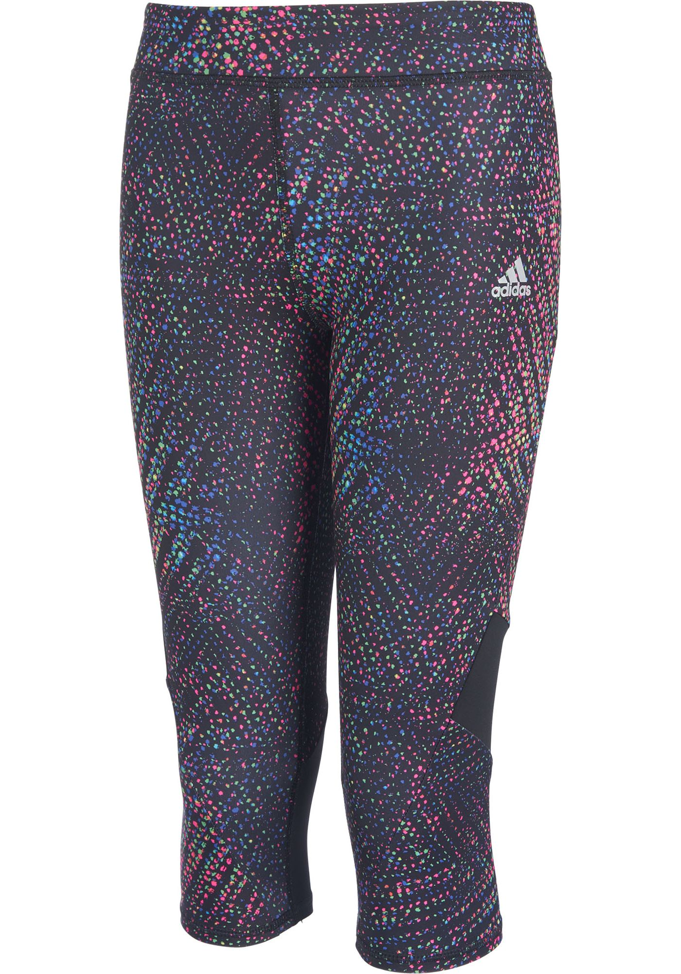 adidas Girls' Alpha Printed Tight Fit Capris