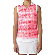 adidas Girls' Printed Sleeveless Golf Polo