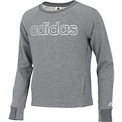 adidas Girls' Sparkle Practice Sweatshirt
