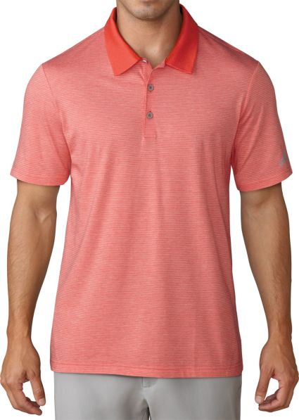 adidas Men's Club Cotton-Hand Mini Stripe Golf Polo