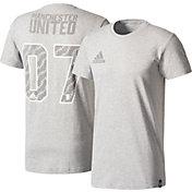 adidas Men's Manchester United Street Graphics Grey Tee