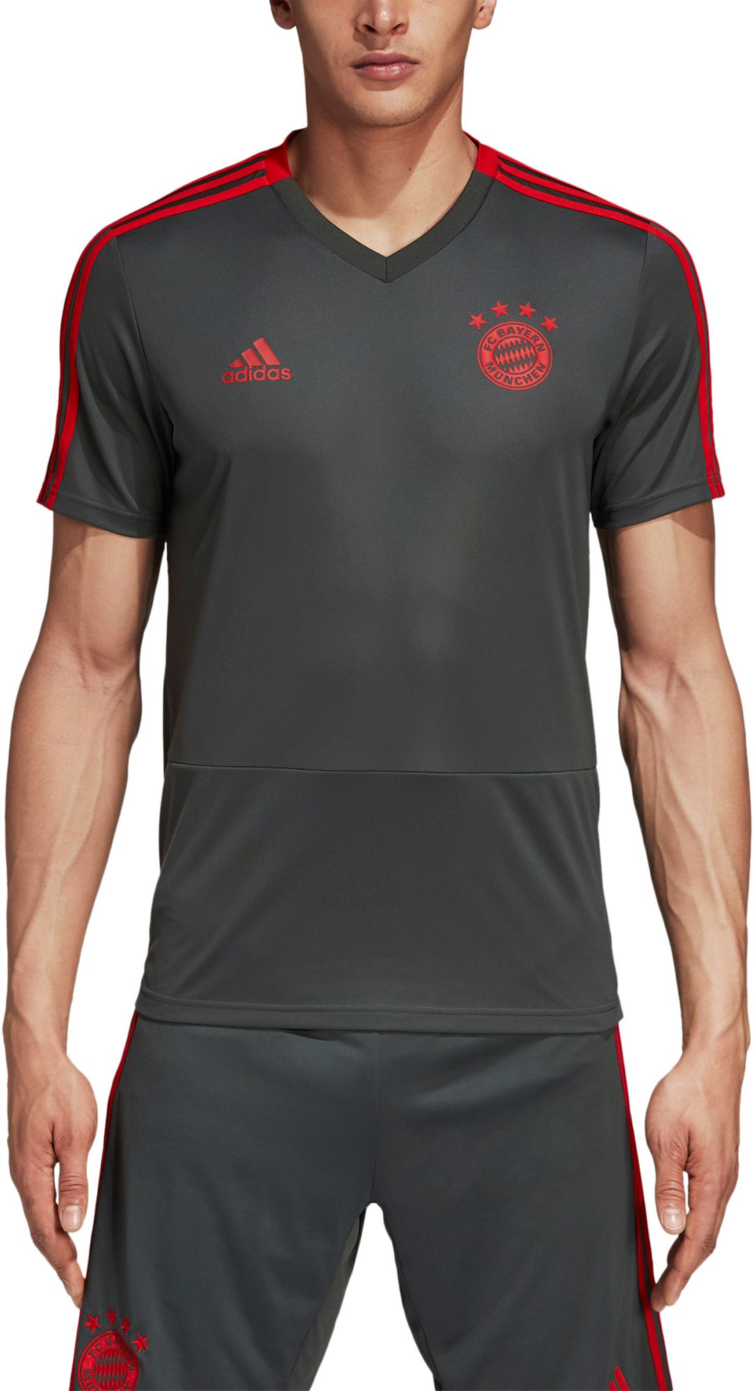 the best attitude 7d669 6e97f adidas Men's Bayern Munich Training Grey Performance Shirt