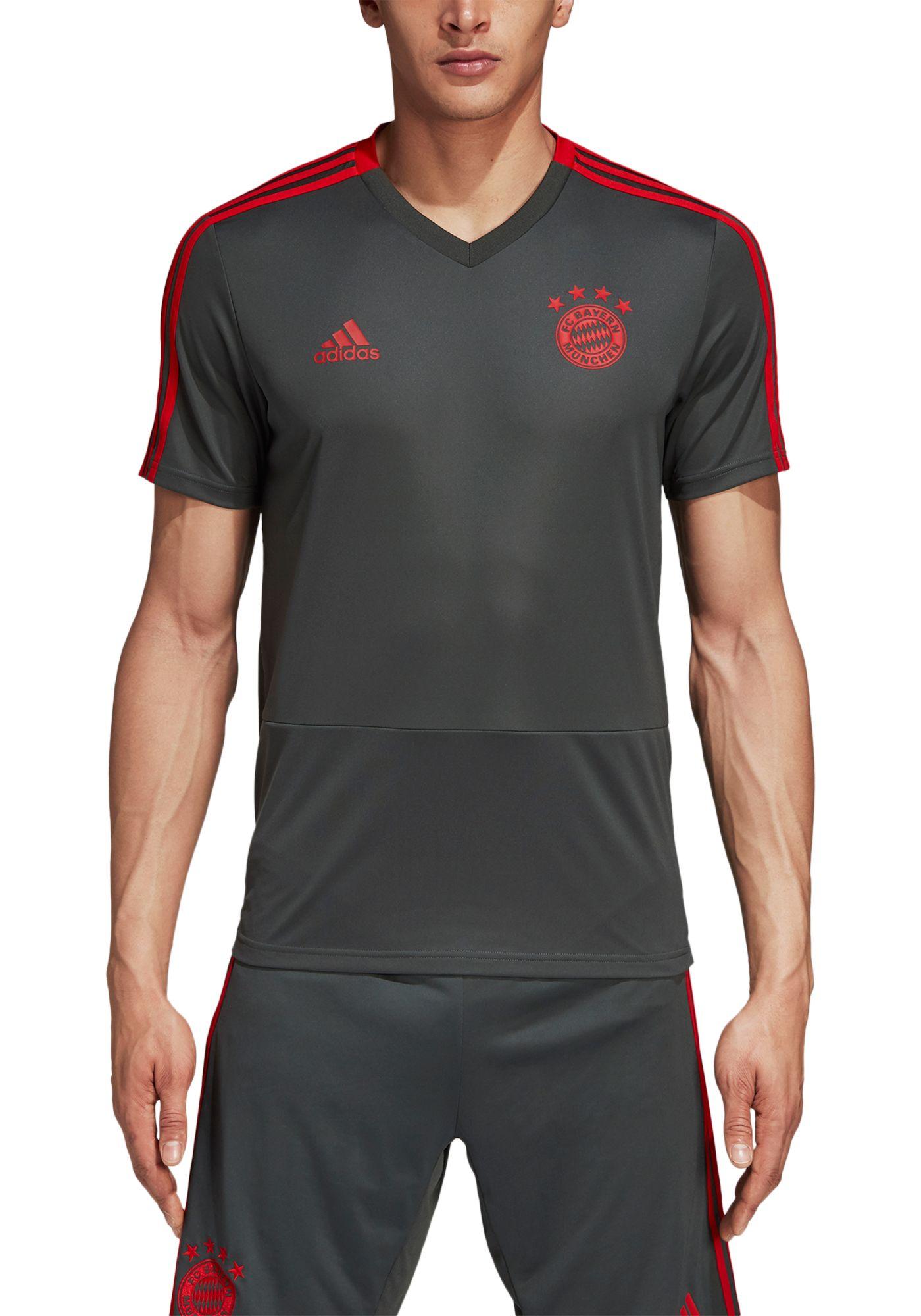 adidas Men's Bayern Munich Training Grey Performance Shirt