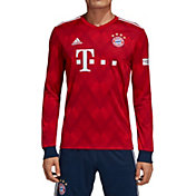 adidas Men's Bayern Munich 2018 Stadium Home Replica Long Sleeve Jersey