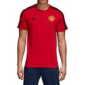 adidas Men's Manchester United 3's Red T-Shirt