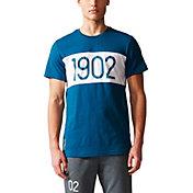 adidas Men's Real Madrid Crest Blue T-Shirt
