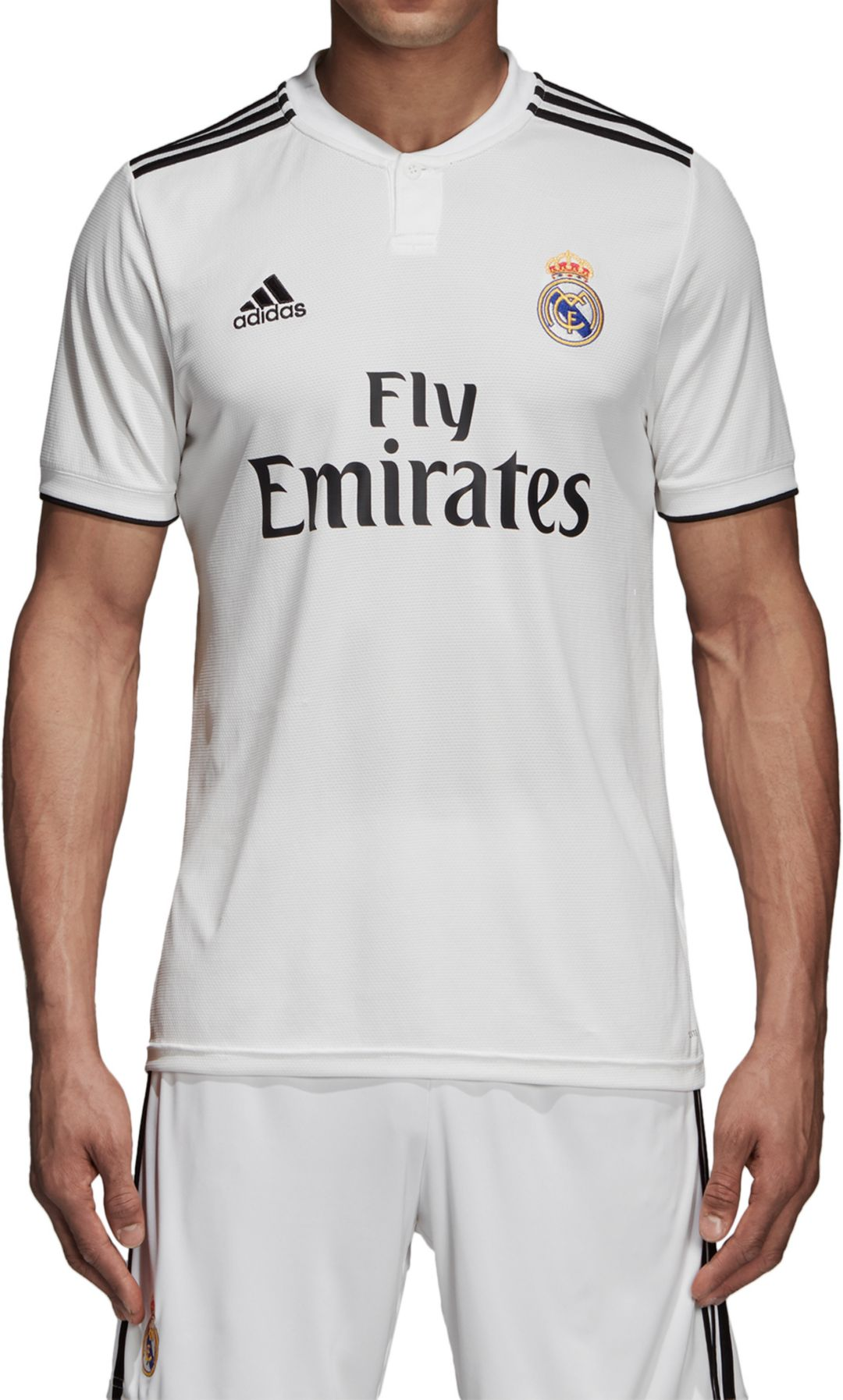sports shoes 6a41b ab775 adidas Men's Real Madrid 2018 Stadium Home Replica Jersey