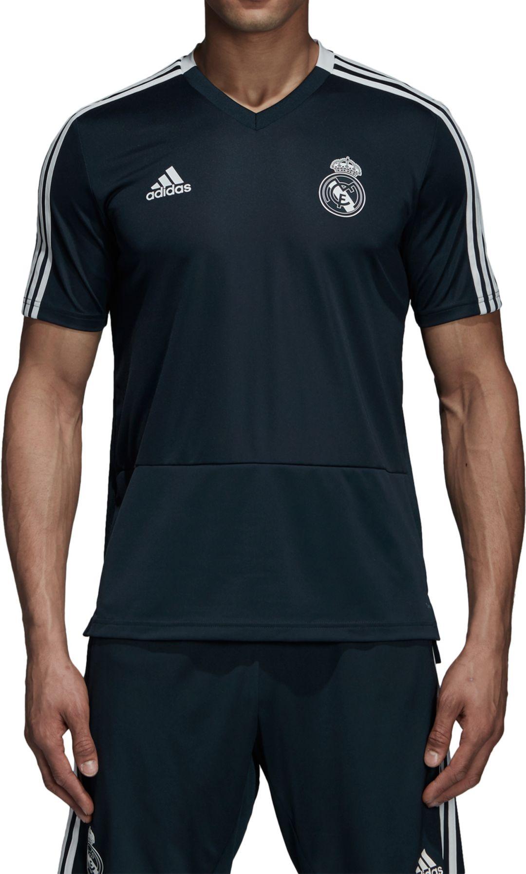 promo code 18fd8 ee1c8 adidas Men's Real Madrid Training Black Performance Shirt