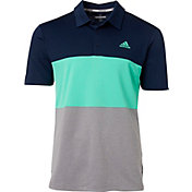 adidas Men's Advantage Wide Colorblock Golf Polo