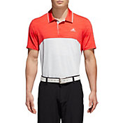 adidas Men's Ultimate365 Heather Blocked Golf Polo