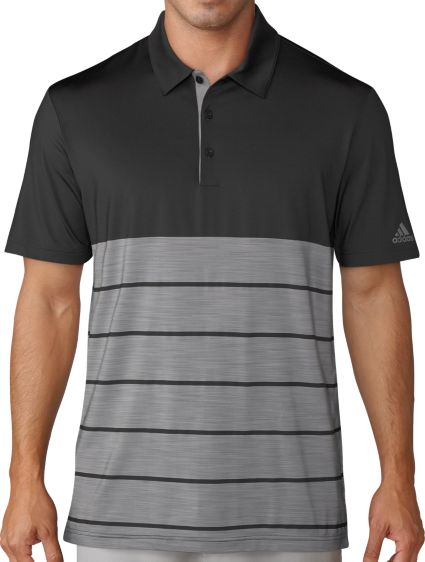 adidas Men's Ultimate365 Heather Stripe Golf Polo