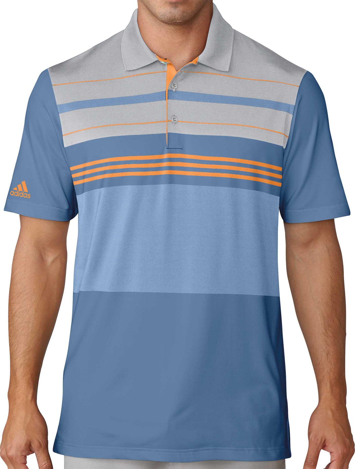 adidas Men's Ultimate365 Engineered Blocked Golf Polo