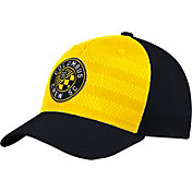 adidas Men's Columbus Crew Authentic Structured Yellow/Black Flexfit Hat