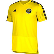 adidas Men's Columbus Crew Training Yellow Performance Shirt