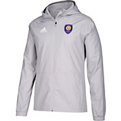 adidas Men's Orlando City Grey Rain Jacket