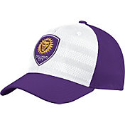 adidas Men's Orlando City Authentic Structured Purple/White Flexfit Hat