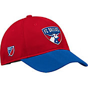 adidas Men's FC Dallas Authentic Slouch Red Adjustable Hat