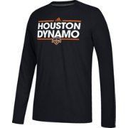 adidas Men's Houston Dynamo Dassler Ultimate Black Performance Long Sleeve Shirt