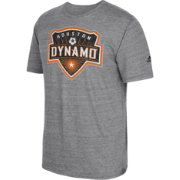 adidas Men's Houston Dynamo Vintage Crest Grey T-Shirt