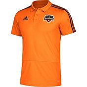 adidas Men's Houston Dynamo Orange Coaches Polo