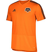 adidas Men's Houston Dynamo Training Orange Performance Shirt