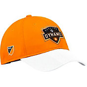 adidas Men's Houston Dynamo Authentic Slouch Orange Adjustable Hat