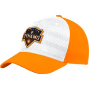 adidas Men's Houston Dynamo Authentic Structured White/Orange Flexfit Hat