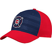 adidas Men's Chicago Fire Authentic Structured Blue/Red Flexfit Hat