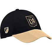 adidas Men's Los Angeles FC Authentic Slouch Black Adjustable Hat