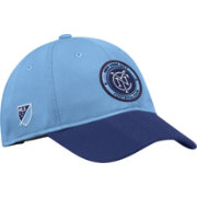 adidas Men's New York City FC Authentic Slouch Blue Adjustable Hat