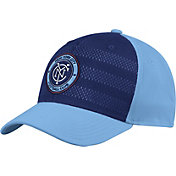 adidas Men's New York City FC Authentic Structured Blue/Navy Flexfit Hat